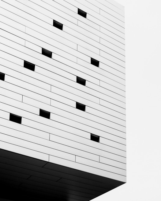 Black and White Abstract photo of a bluiding in Urban Europe