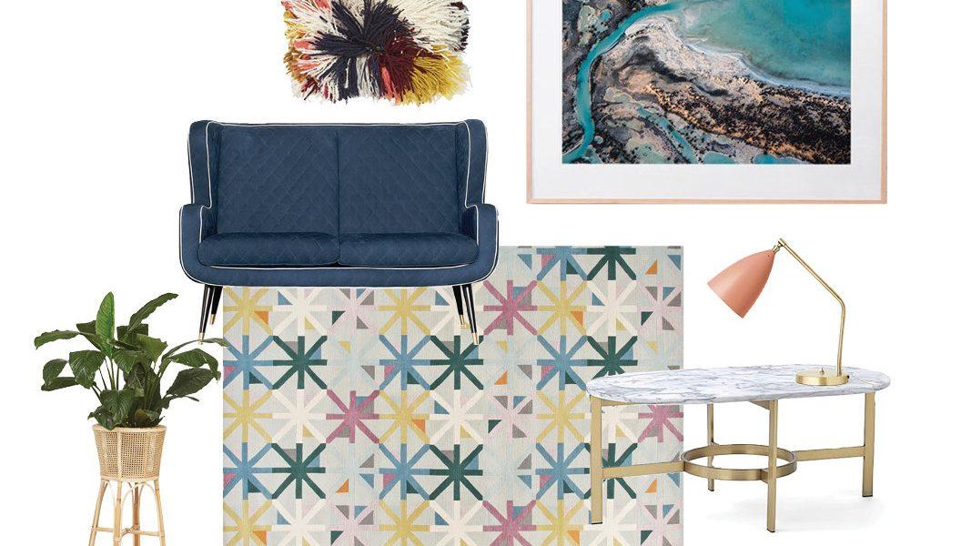Furniture and Art for interior design Moddboard